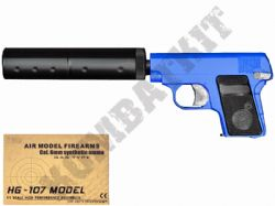 HG107S BB Gun Colt Compact C25 Replica Gas Airsoft Pistol 2 Tone Blue Black